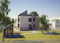 Individual energy efficient house in the cottage village of the Chelyabinsk region (Ural)